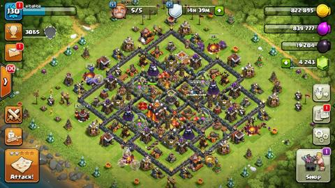 clash of clans th 10 mantap