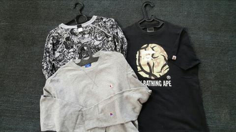 Crewneck Champion, Bape (Bathing Ape) & Star Wars not supreme