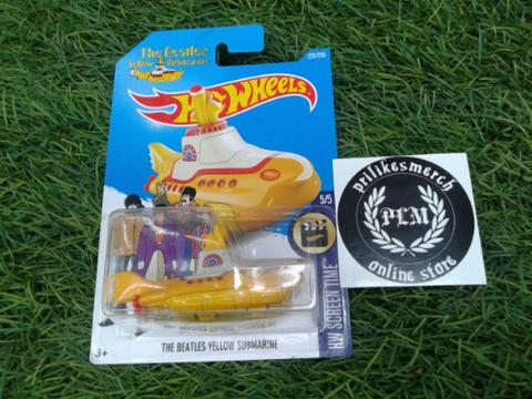 JUAL HOT WEELS THE BEATLES YELLOW SUBMARINE