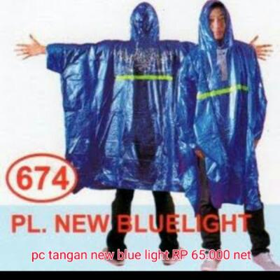jas hujan ponco new blue light