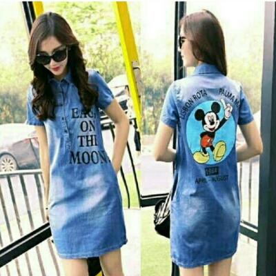 Dress Denim Mickey