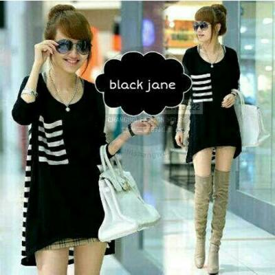 Casual Dress Black Murah