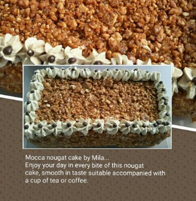 Mila cake special marmer and nougat cake