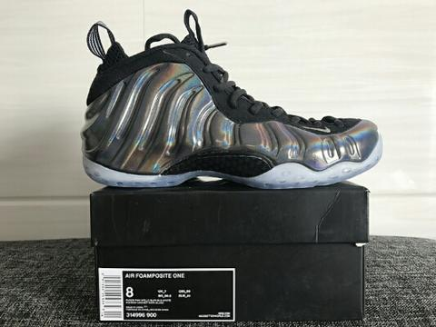 Nike Foamposite One Black Metallic Hologram