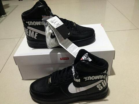 Nike Air Force 1 X Supreme Black