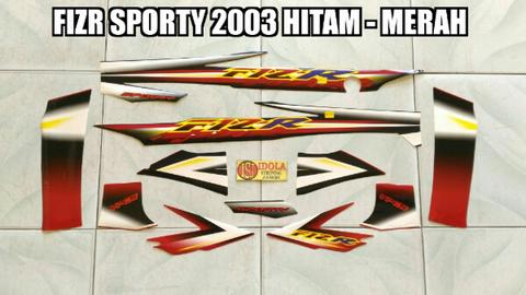 Striping FIZR Sporty 2003 Hitam - Merah