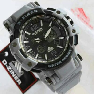 JAM TANGAN PRIA D ZINER 8090 ANTI AIR FULL GREY