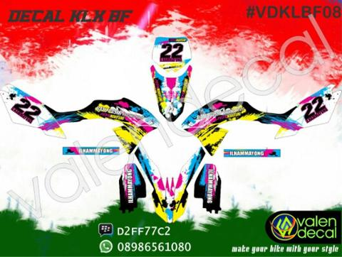 Sticker Striping Decal KLX BF (bisa request custom) full body