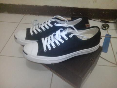 converse jack purcell canvas black white (1Q699)