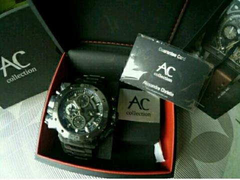 Jual Cepat jam Alexandre Christie 9205MC All Black,CollectionTerbaru