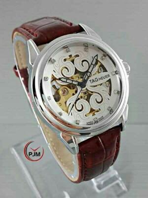 JAM TANGAN TAG HEUER AUTOMATIC ELEGAN BROWN
