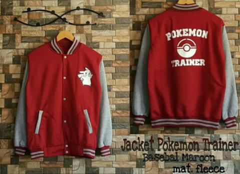 Pokemon trainer baseball maroon