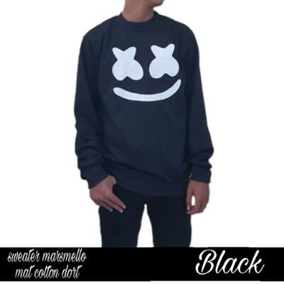 Sweater Oblong Black Marshmello Murah Premium