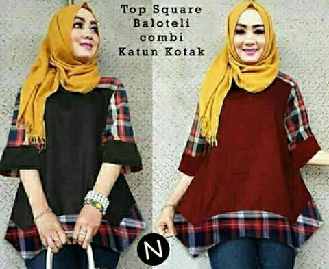 Blouse Tunik Top Square