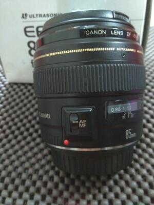 "LensaLensa Canon 85mm F1.8 USM "" Mulus, Fullbox, Ex DS """