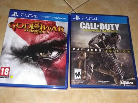 God of war Remastered & Call of duty