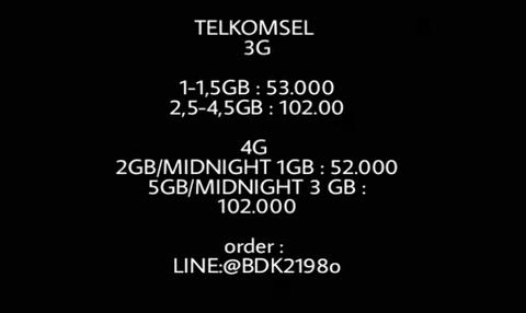 paket internet telkomsel 1-1,5GB