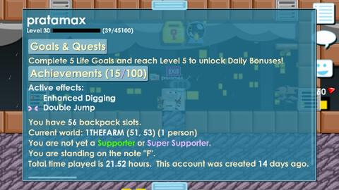akun growtopia lvl 30