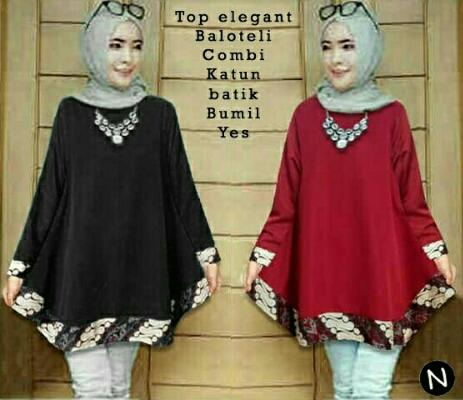 Blouse Tunik Top Elegant