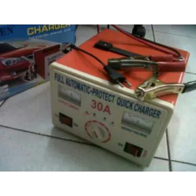 Charger Aki / Baterai Rayden 30A (6V,12V,24V) FULL Auto Quick Charger