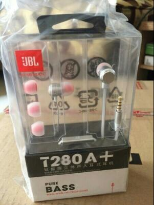 Headset Handsfree Earphone JBL T280 A+ ORIGINAL | PURE BASS