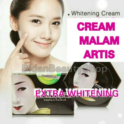 Cream malam glowing Artis Korea % Original | Extra Whitening Night Cream