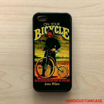 On Your Bicycle Black iPhone 5/5s/SE TPU Hybrid (Soft Rubber Side) Case