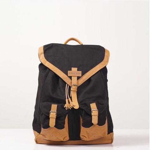 tas backpack kulit vintage jadul