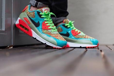 Nike air max 90 25th Anniversary Flash Lime Infrared 100% ORIGINAL! Murah.
