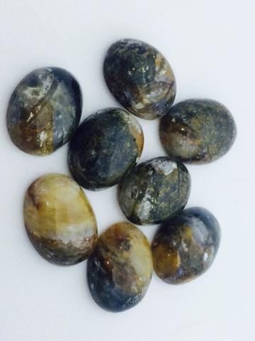 Natural Blue Opal Serat Emas Borongan