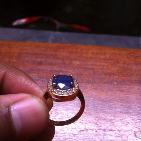 cincin blue safir for ladies