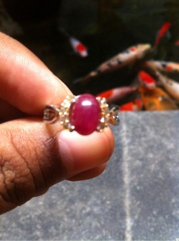 cincin ruby star for ladies