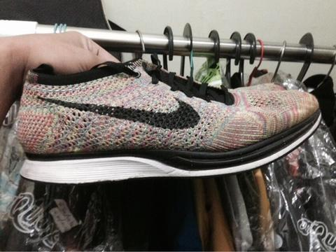 wts nike flyknit racer multicolor RARE