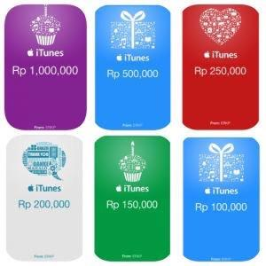 iTunes Giftcars Indonesia ( Check for Best Prices )