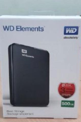 Hdd wdc elements 500gb bnib