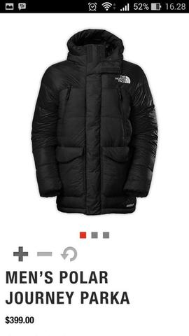 tnf the north face polar journey parka fill down 550 size M mens