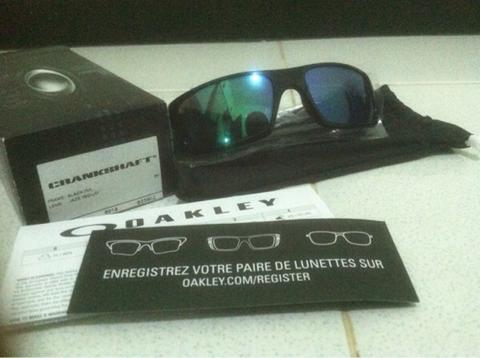 399d4e6c1bce4 Terjual Original Oakley Crankshaft. Black Ink. Jade Iridium. Malang ...