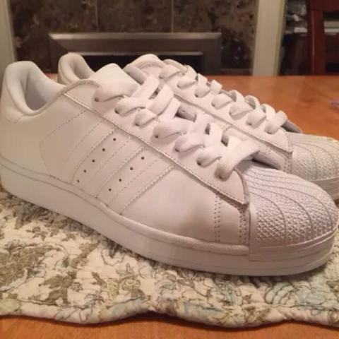 (Jual Rugi) Adidas Superstar II ALL WHITE size 39 1/3