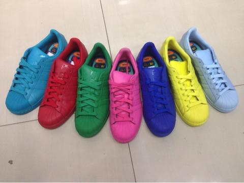 sepatu casual adidas superstar colorpack pharrell whilliam original bnib