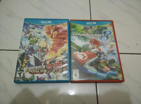 game Wii u mario kart 8, wonderful 101, yoshi wolly