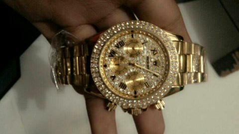 Jam Tangan Rolex Chrono Gold