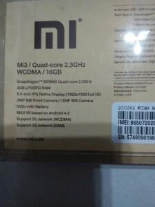 BNIB Xiaomi Mi3, bonus softgel case, Malaysia set.