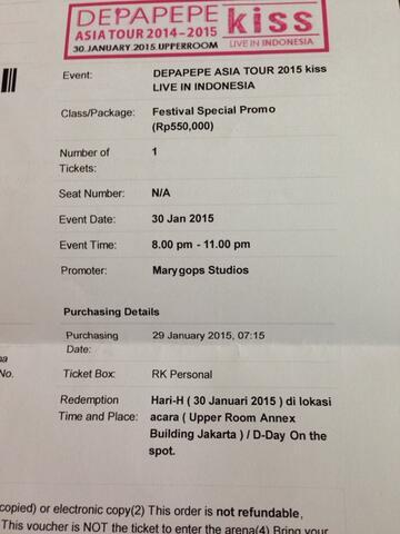 Jual Tiket Depapepe Asia Tour 2015 Murah!