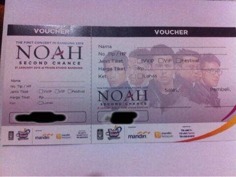 Tiket Konser NOAH 'Second Chance' Bandung
