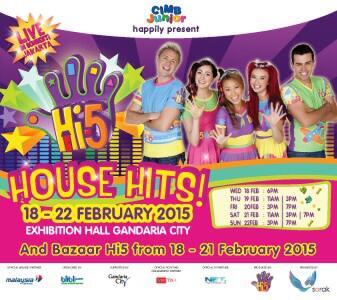 Hi 5 house hits 18 - 22 Februari 2015 @ Gandaria City