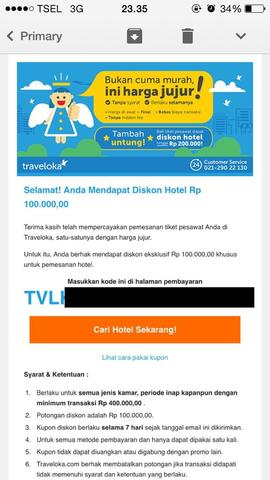 voucher kupon hotel traveloka 100.000