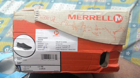 dijual sepatu big size 46 merek merrel BNIB,semi formal.