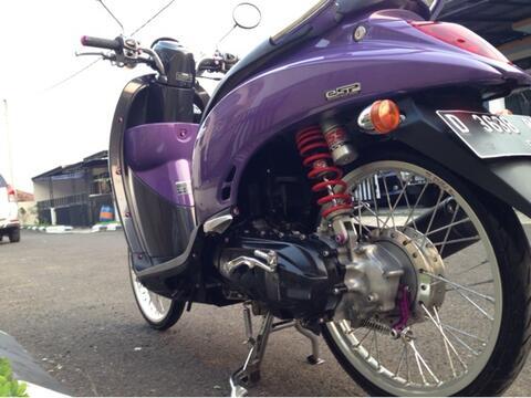 32 Modif Motor Scoopy Ungu Inspirasi Terbaru