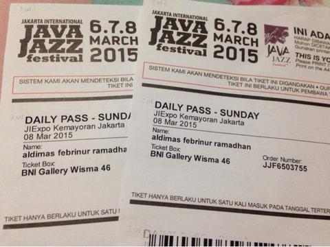 Java Jazz Festival 2015 for sale!!!!