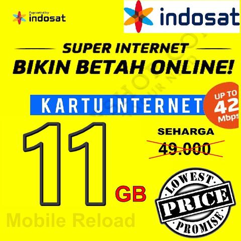 Paket Data Indosat 11GB